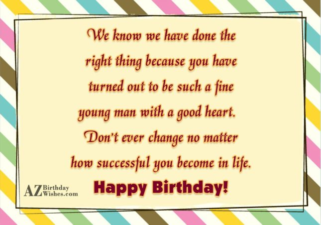 We know we have done the right… - AZBirthdayWishes.com