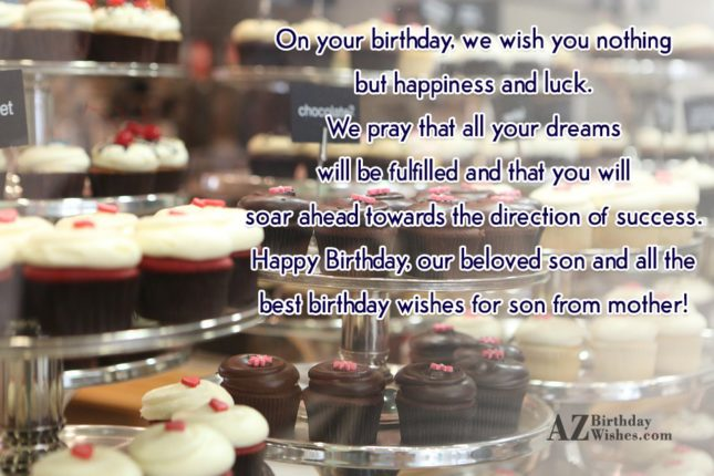 On your birthday, we wish you nothing… - AZBirthdayWishes.com