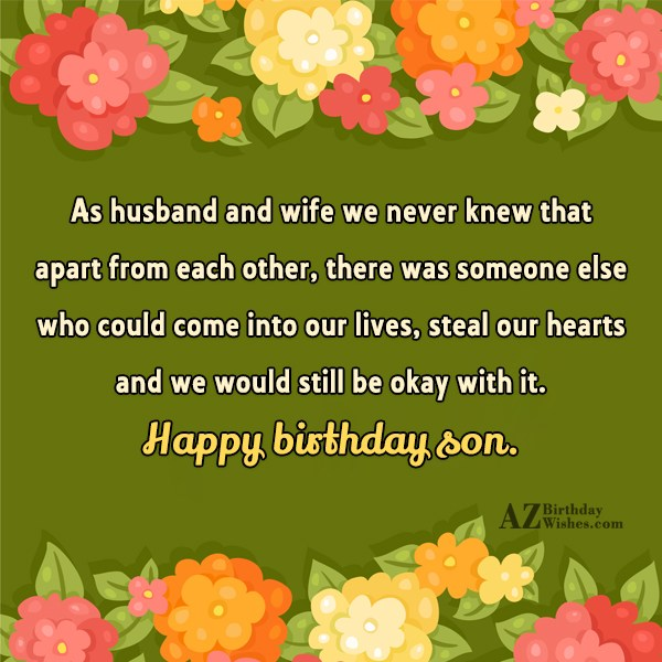 As husband and wife we never knew… - AZBirthdayWishes.com