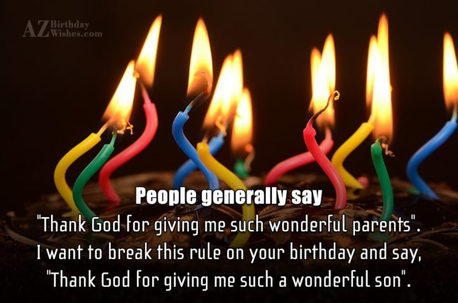 "People generally say ""Thank God for giving… - AZBirthdayWishes.com"