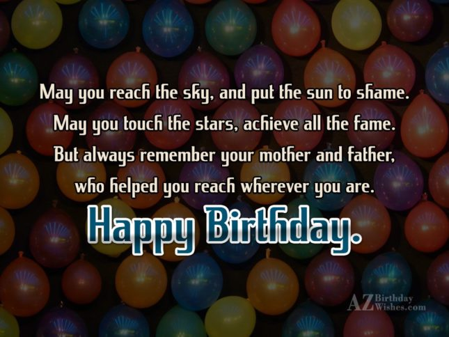 May you reach the sky, and put… - AZBirthdayWishes.com