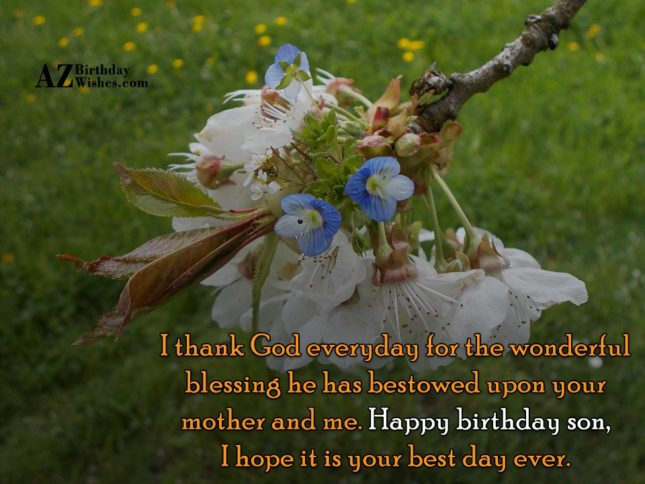 I thank God everyday for the wonderful… - AZBirthdayWishes.com