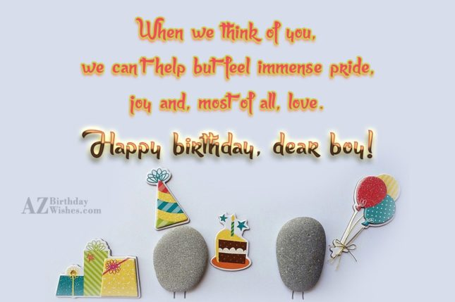 When we think of you, we can't… - AZBirthdayWishes.com