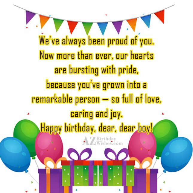 We've always been proud of you. Now… - AZBirthdayWishes.com