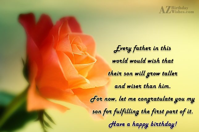 Every father in this world would wish… - AZBirthdayWishes.com