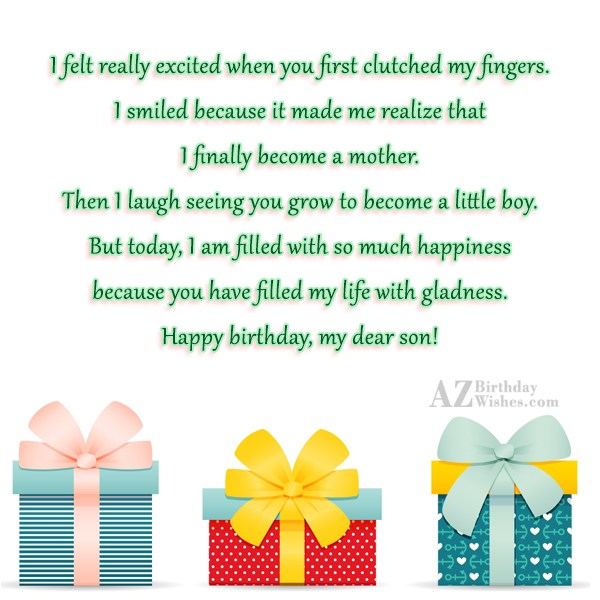 I felt really excited when you first… - AZBirthdayWishes.com