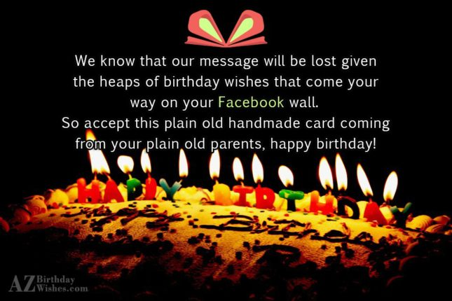 We know that our message will be… - AZBirthdayWishes.com