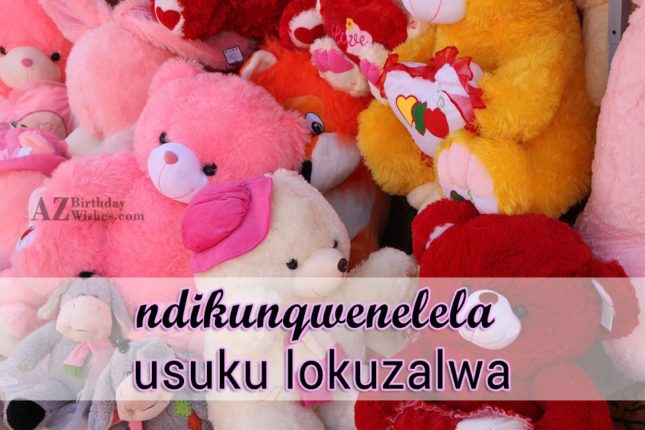 birthday wishes in xhosa