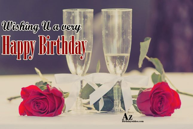 Wishing u a very Happy birthday - AZBirthdayWishes.com