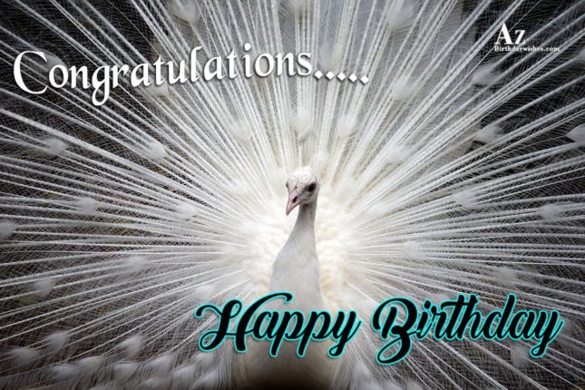 Congratulations Happy birthday - AZBirthdayWishes.com