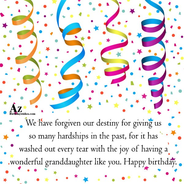 We have forgiven our destiny for giving us so many hardships in the past - AZBirthdayWishes.com