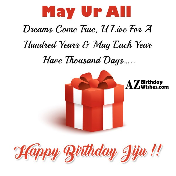 May Ur All Dreams Come True, U Live For A Hundred Years - AZBirthdayWishes.com