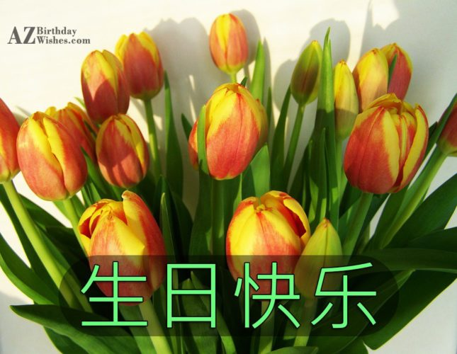 生日快乐 - AZBirthdayWishes.com