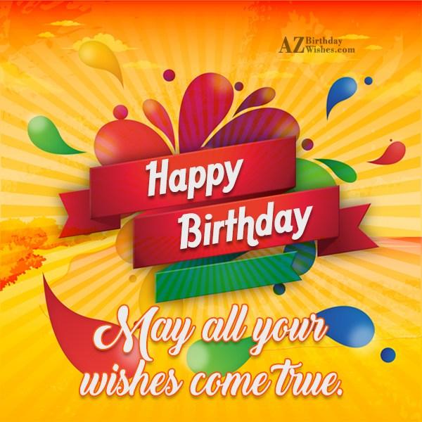 General Birthday Wishes