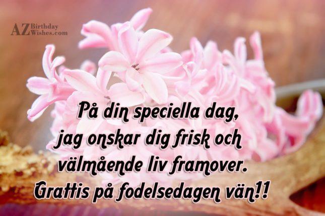 grattis på födelsedagen till vän På din speciella dag, jag önskar dig frisk och välmående liv  grattis på födelsedagen till vän