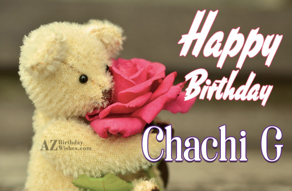 I Wish You A Very Happy Birthday Chachi Ji