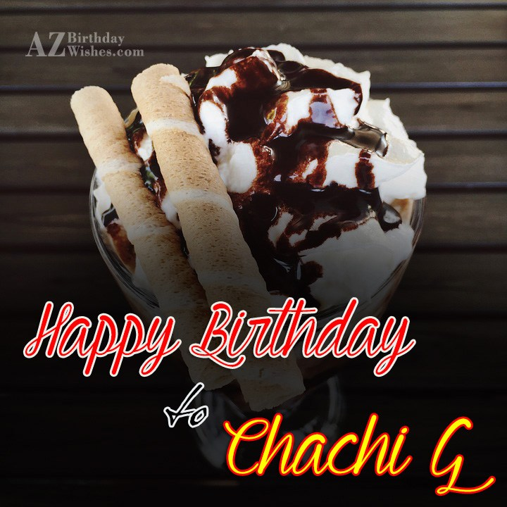 I Wish You A Very Wonderful Happy Birthday Chachi Ji