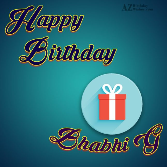 Happy Birthday  to my charming  Bhabhi… - AZBirthdayWishes.com