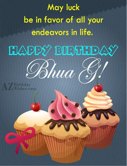 May luck be in favor of all your endeavors in life Happy birthday bhua ji - AZBirthdayWishes.com