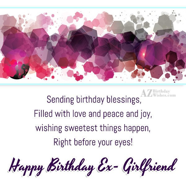 Sending birthday blessings filled with love and peace and joy - AZBirthdayWishes.com