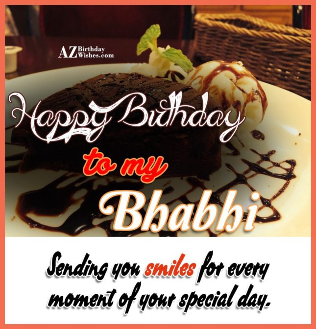 Sending you a smiles every moment  of your special day - AZBirthdayWishes.com