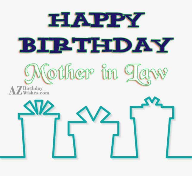 Wishing you a very happy birthday mother in law - AZBirthdayWishes.com