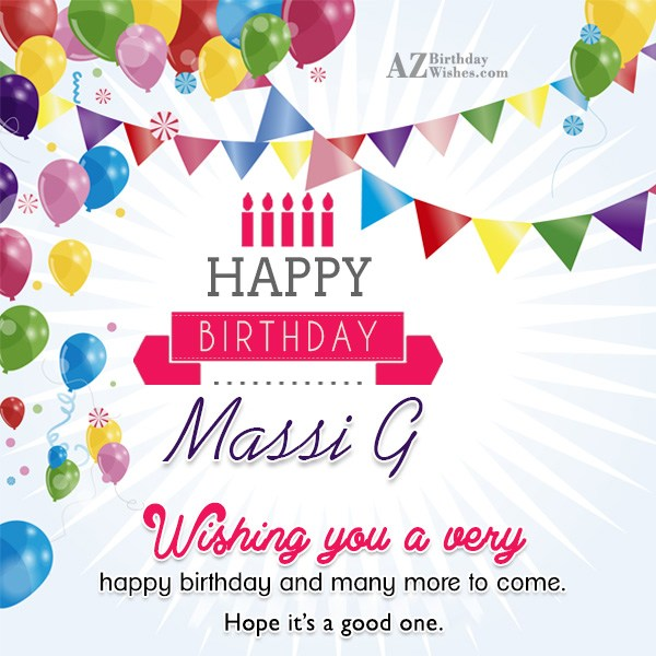 Wishing You A Very Happy Birthday Massi Ji And Many More To Come