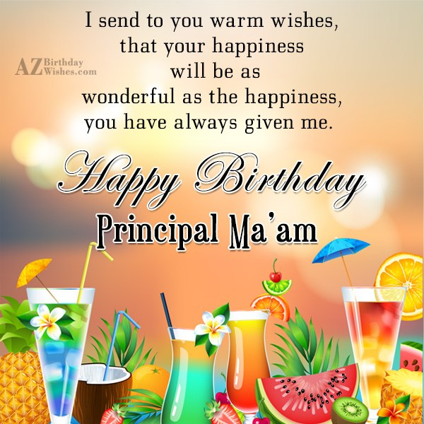 Birthday Quote For Teacher: Birthday Wishes For Principal