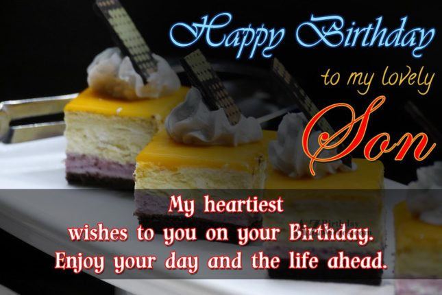 My heartiest wishes to you on your birthday enjoy you day and the life ahead - AZBirthdayWishes.com