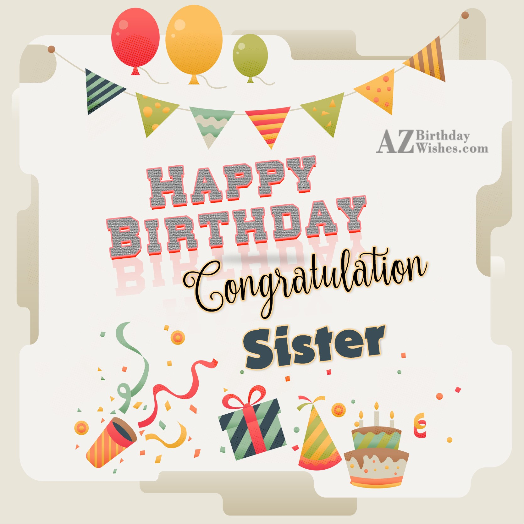 Birthday wishes for sister happy birthday congratulation sisiter kristyandbryce Choice Image