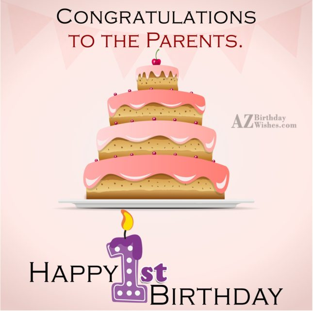 Happy 1st birthday… - AZBirthdayWishes.com