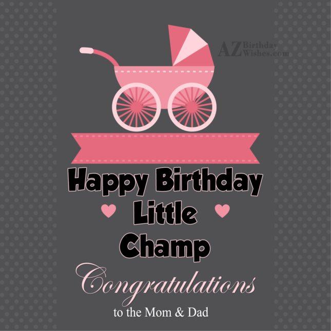 Happy birthday little champ… - AZBirthdayWishes.com
