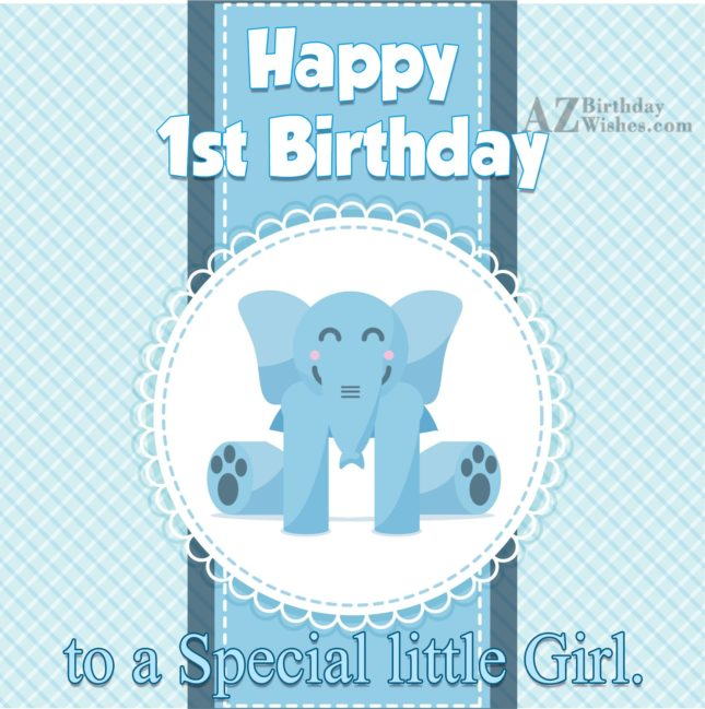 To a special little girl… - AZBirthdayWishes.com