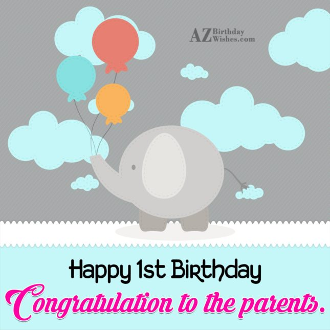 Congratulations to the parents… - AZBirthdayWishes.com