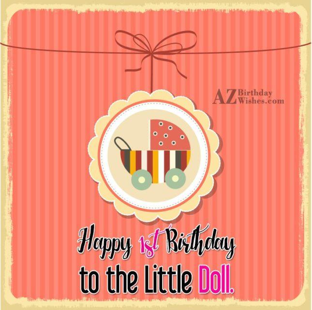 Happy birthday to little doll… - AZBirthdayWishes.com