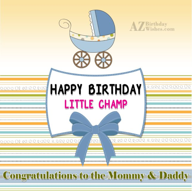 Cute 1st birthday wish… - AZBirthdayWishes.com