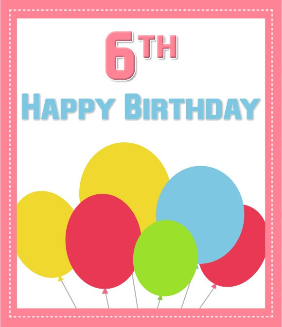6th Happy birthday… - AZBirthdayWishes.com
