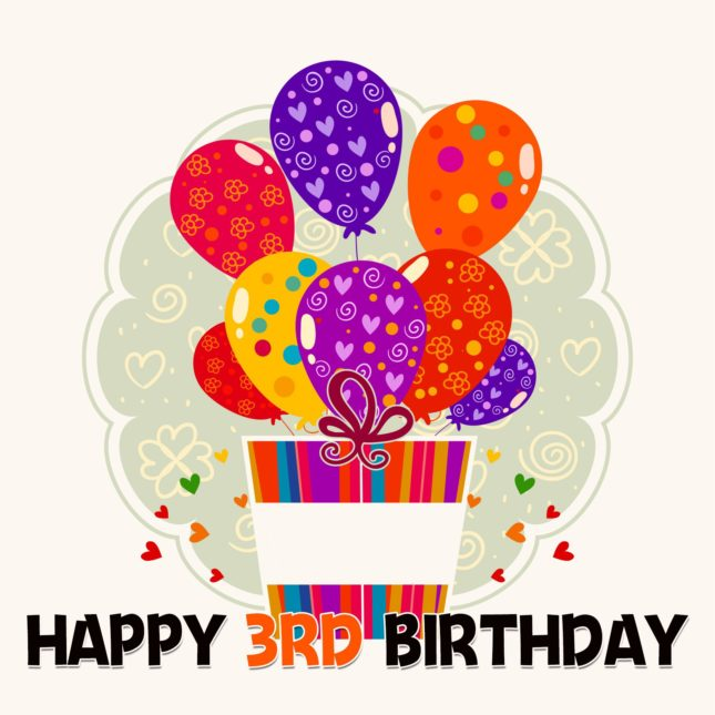 Happy third birthday… - AZBirthdayWishes.com