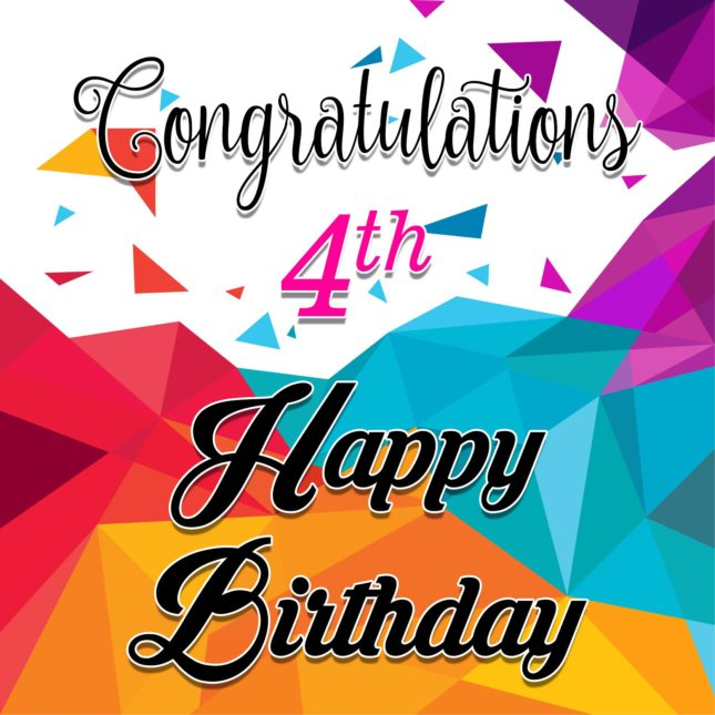 Congratulations on 4th birthday… - AZBirthdayWishes.com