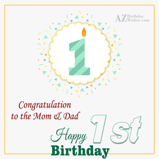 Congratulations to the mom and dad… - AZBirthdayWishes.com
