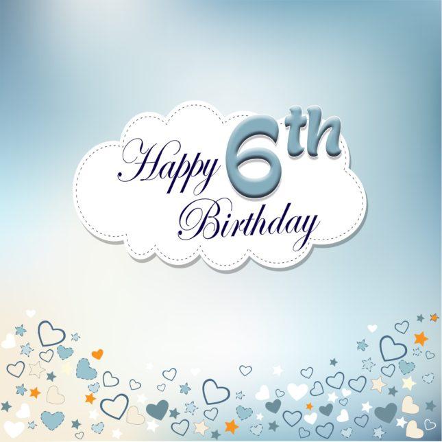Happy sixth birthday… - AZBirthdayWishes.com