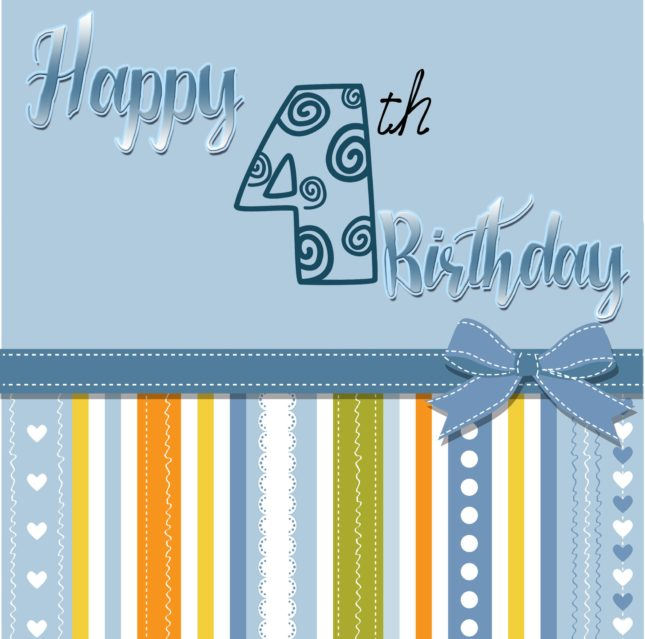 Happy fourth birthday… - AZBirthdayWishes.com