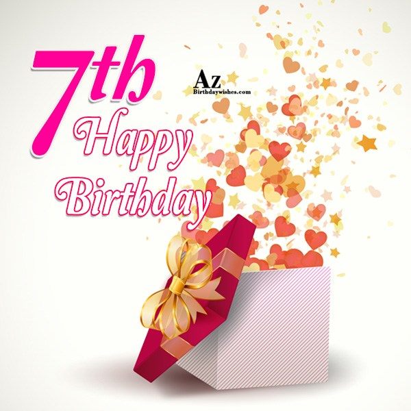 7th birthday wish… - AZBirthdayWishes.com