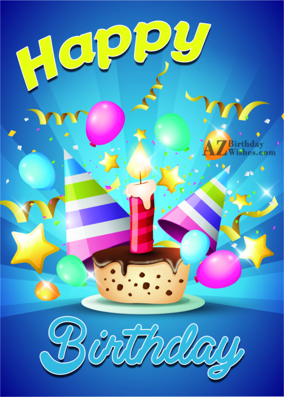 Happy 1st Birthday with 1 candle… - AZBirthdayWishes.com
