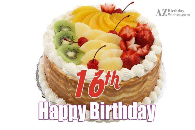 Happy 16th birthday… - AZBirthdayWishes.com