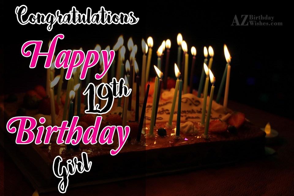 19th Birthday Wishes Happy 19th Birthday Wishes