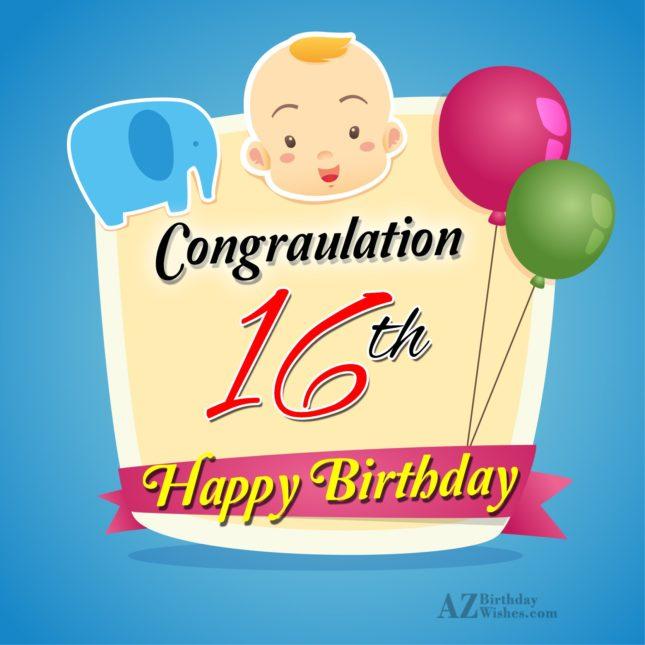 16th happy birthday… - AZBirthdayWishes.com