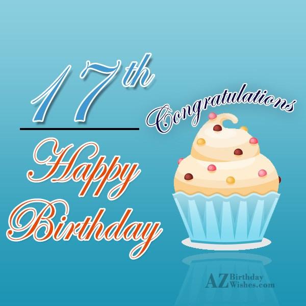 17th birthday wishes… - AZBirthdayWishes.com