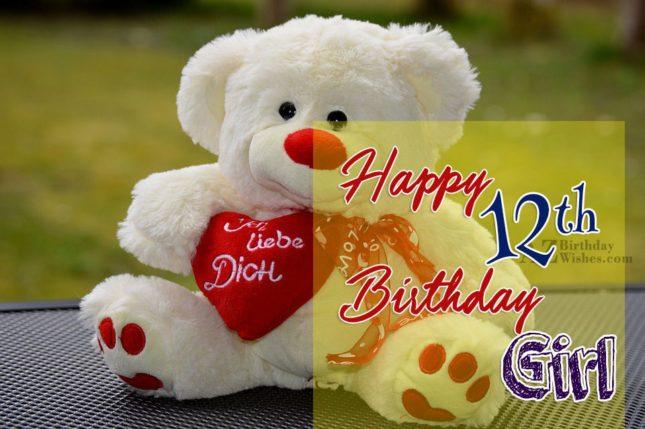 Happy 12th birthday girl… - AZBirthdayWishes.com
