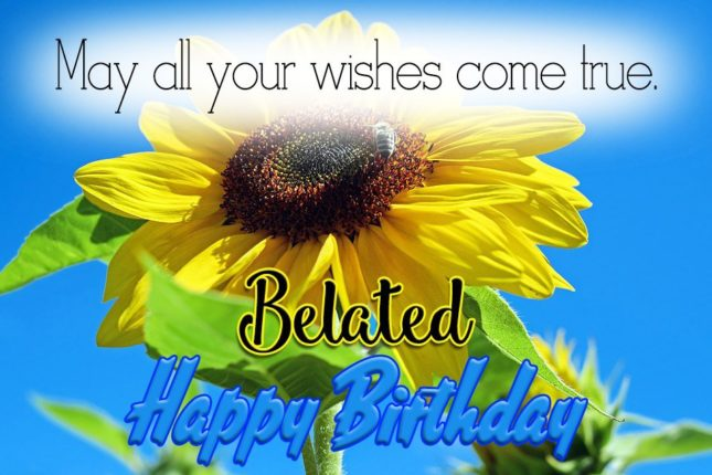 May all your wishes come true. Happy belated… - AZBirthdayWishes.com